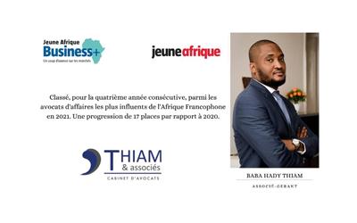 Baba Hady Thiam among leading African lawyers by Jeune Afrique Magazine